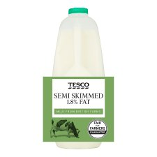 Tesco British Semi Skimmed Milk 3.408L, 6 Pints