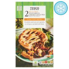 Tesco Meat Free Vegetable And Chicken Style Pies 360G