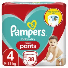 Baby Dry Pants Essential Pack Size 4 38 Nappies
