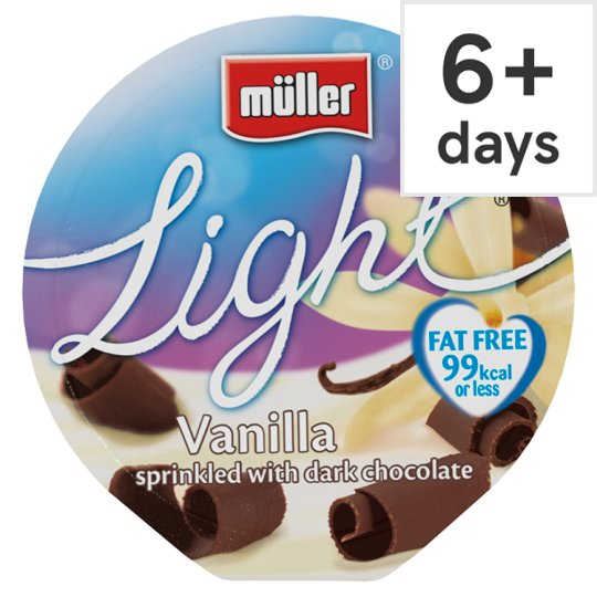 Muller Light Vanilla Dark Chocolate Yogurt 165G