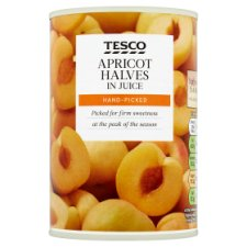 Tesco Apricot Halves In Juice 411G