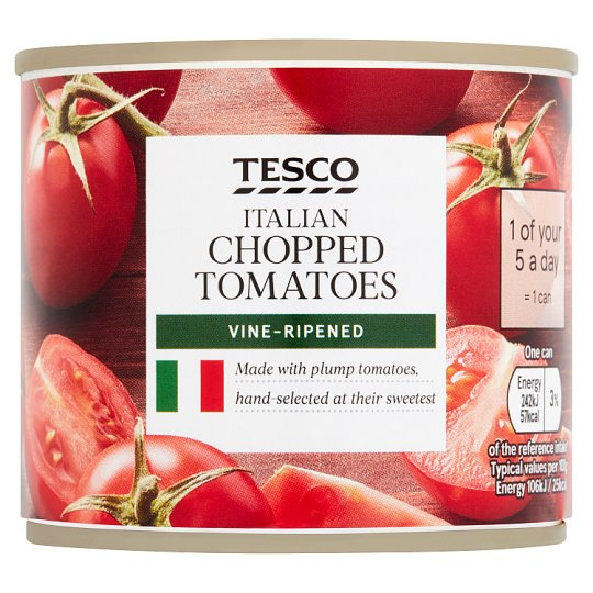 Tesco Italian Chopped Tomatoes 227G