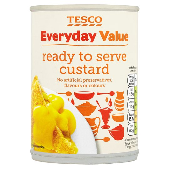 Tesco Everyday Value Ready To Serve Custard 385G