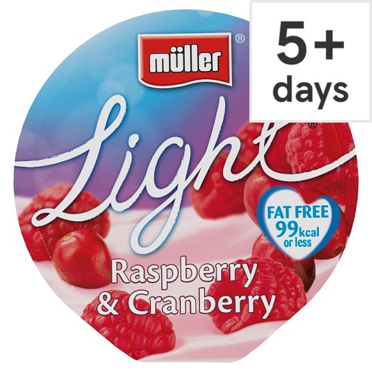 Muller Light Raspberry Cranberry Yogurt 175G