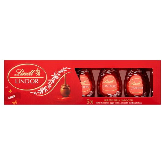 image 1 of Lindt Lindor Milk Chocolate Truffle Eggs 5X18g