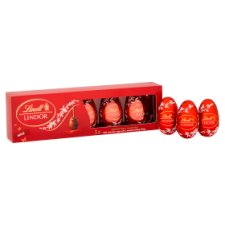 image 2 of Lindt Lindor Milk Chocolate Truffle Eggs 5X18g