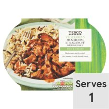 Tesco Mushroom Stroganoff With Wild Rice Ready Meal 400G