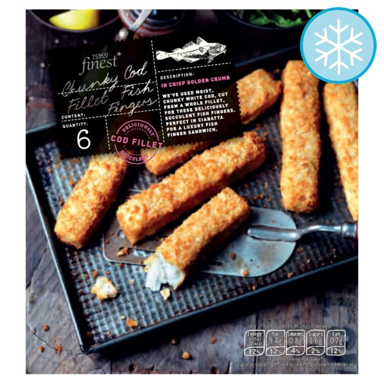 Tesco Finest 6 Chunky Cod Fillet Fish Fingers 400G