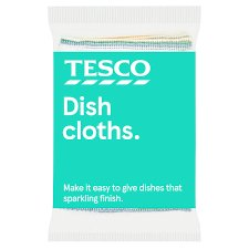 Tesco Dish Cloth 4 Pack
