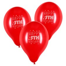 Tesco 10 Pack Happy Birthday Balloons Age 5