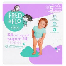 Fred & Flo Super Fit Size 5 Nappies 34 Pack