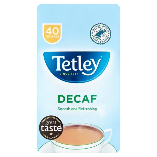 Tetley Decaffeinated 40 Teabags 125G