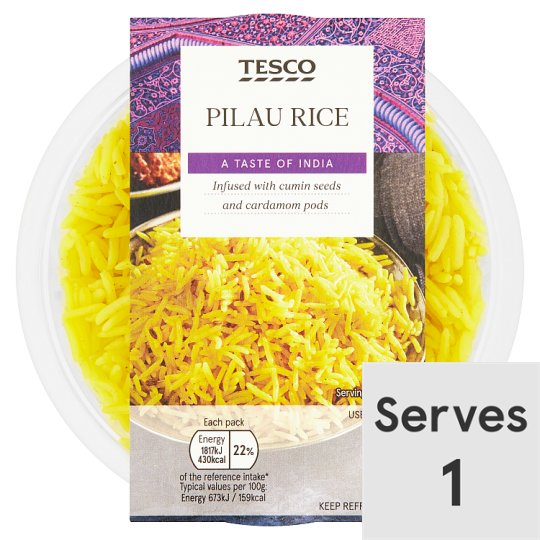 Tesco Indian Kitchen Pilau Rice 270G