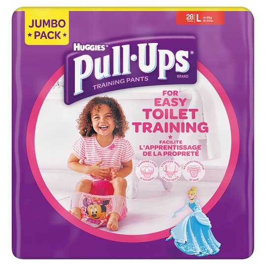 Huggies Pull Ups Girls Large 28 Pack