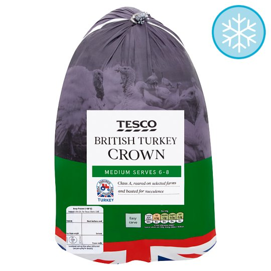 Tesco British Medium Frozen Turkey Breast Crown 2.0-2.3Kg