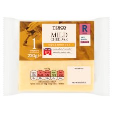 Tesco British Mild Chedder Cheese 220G