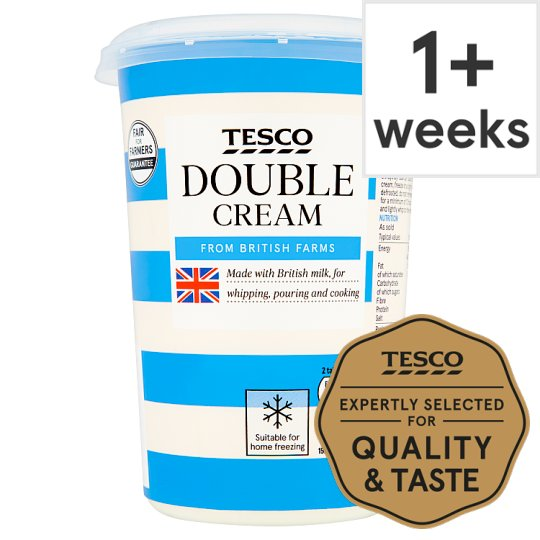 Tesco British Double Cream 600Ml