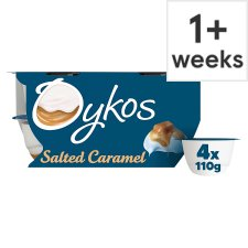 Oykos Greek Style Salted Caramel Yogurt 4 X110g