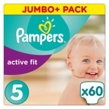 Pampers Active Fit Size 5 Jumbo+ Pack 60 Nappies