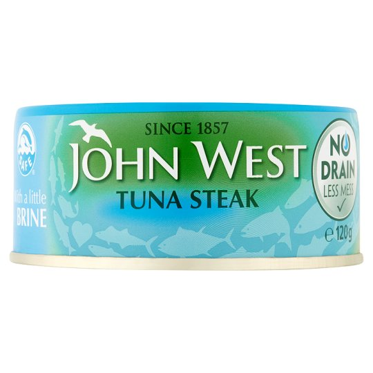John West No Drain Tuna Steak In Brine 120G