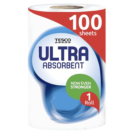 Tesco Kitchen Towel Ultra Absorbent White 2 Roll