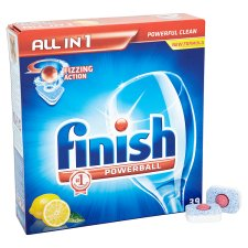 Finish All In 1 Dishwasher Tablets Lemon 39'S