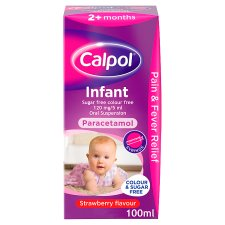 Calpol Infant Colour Free And Sugar Free 100Ml