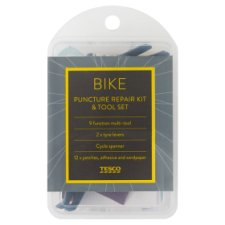Tesco Bike Puncture Repair Kit And Tools Set