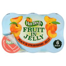 Hartleys Peach In Strawberry 6 Pack 720G