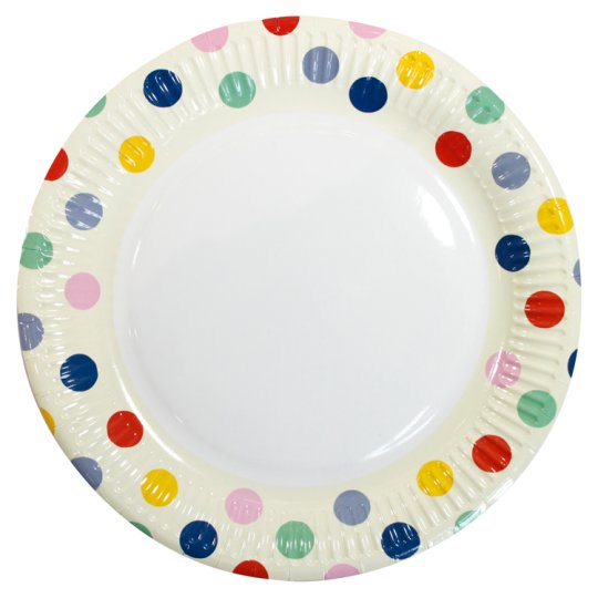 Spotty Plate 9 Inch 8 Pack