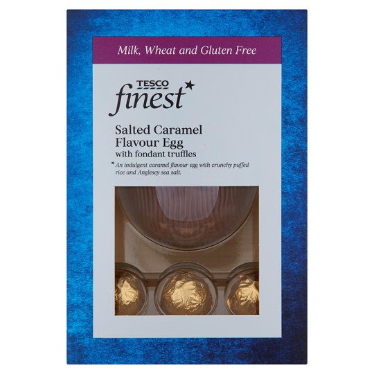 Tesco Finest Free From Caramel Egg With Truffles 120G