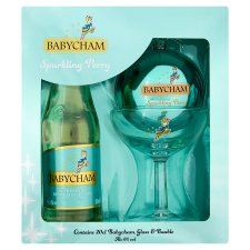 Babycham Bauble And Glass Gift Set