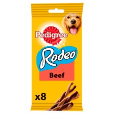 Pedigree Rodeo Beef Dog Treats 8 Sticks, 140G