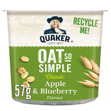 Quaker Oat So Simple Apple & Blueberry Porridge 57G