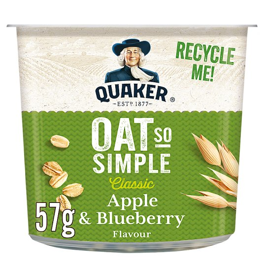 Quaker Oat So Simple Apple And Blueberry Porridge 57G