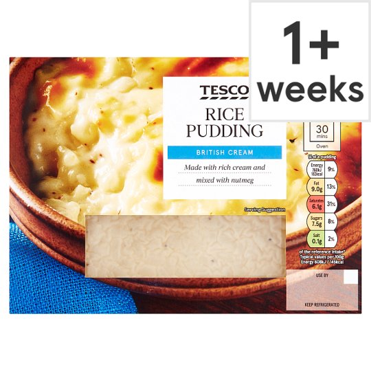Tesco Creamy Rice Pudding 500 G