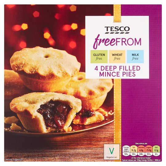 Tesco Free From 4 Deep Filled Mince Pies