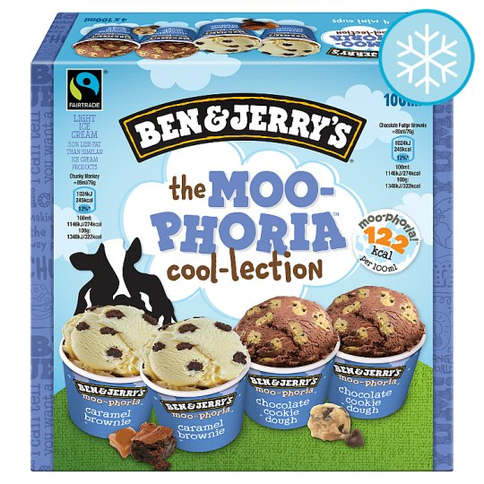 Ben And Jerry's Multi Pack Cups Ice Cream 4 X 100Ml