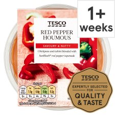 Tesco Houmous Red Pepper 182G