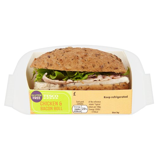 Tesco Free From Chicken And Bacon Roll