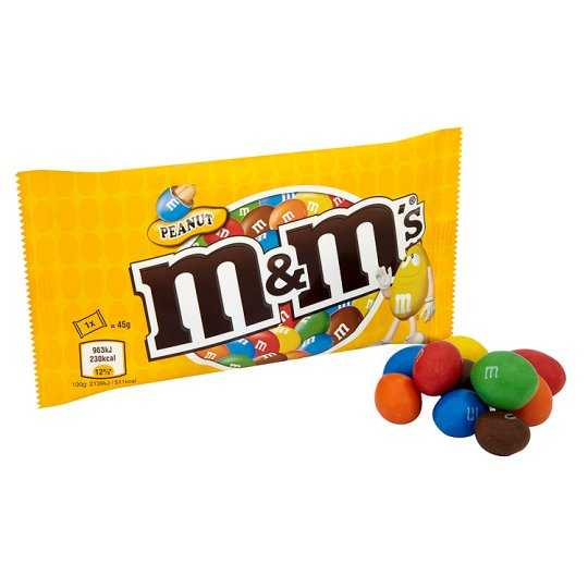 M&M's Peanut Peanut Bag 45G - Groceries - Tesco Groceries