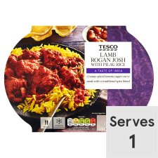 Tesco Indian Lamb Rogan And Rice 450G