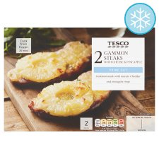 Tesco Gammon Steaks, Cheese And Pineapple 345G