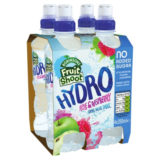 Robs Fruit Shoot Hydro Apple And Raspberry 4X350ml