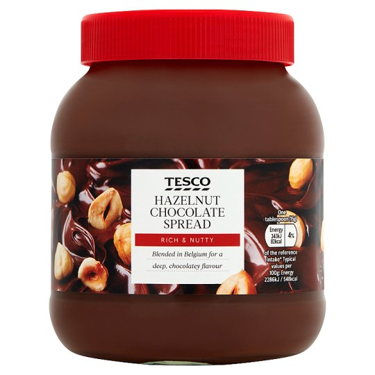 Tesco Hazelnut Chocolate Spread 750G