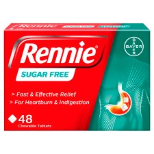 Rennie Sugar Free Indigestion Tablets 48S