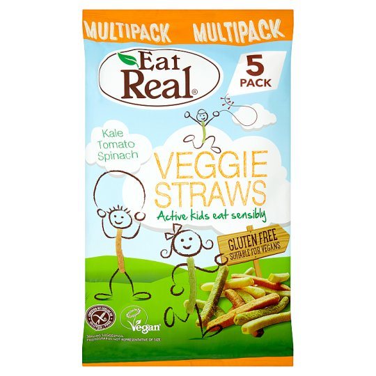 Eat Real Veggie Straws Kids Multi-Pack 5X20g