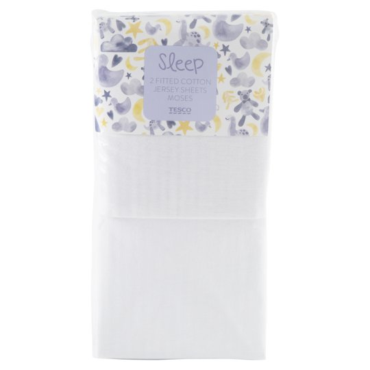 Tesco Moses 2 Fitted Sheets White