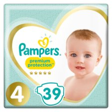 Pampers Premium Protection Size 4 Essential Pack 39 Nappies