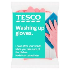 Tesco Dishwashing Rubber Gloves Small 1 Pair